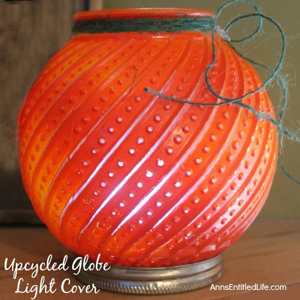 Upcycled Globe Light Cover Project