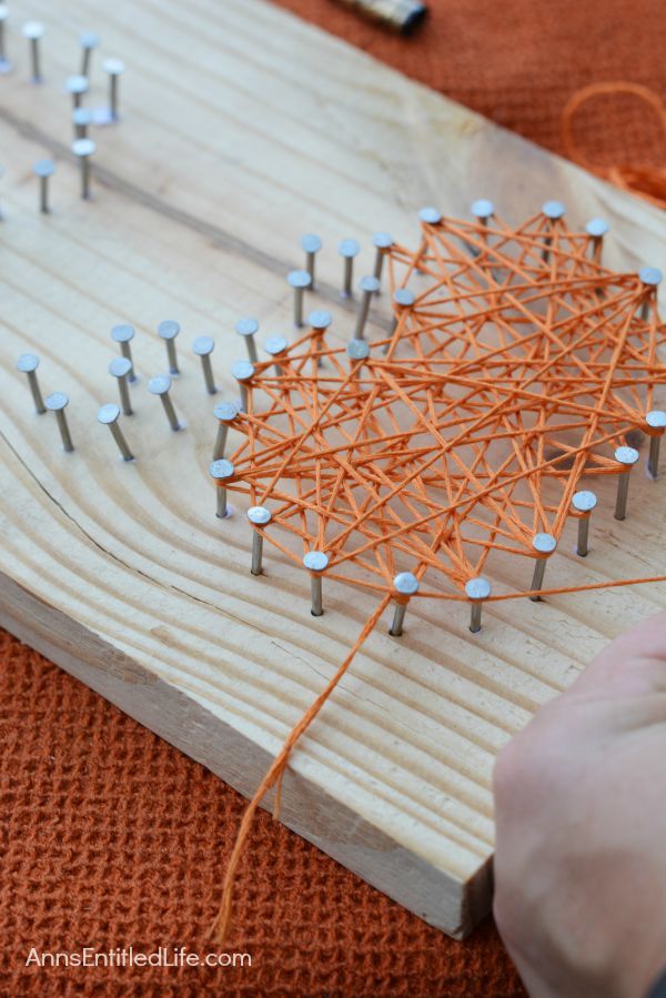 DIY Halloween String Art Trio: Ghost, Pumpkin and Bat; Halloween doesn't have to be spooktacular, sometimes it can be cute and whimsical. The ghost, pumpkin and bat in this string art project work well as a grown-up Halloween art project that is a touch fanciful.