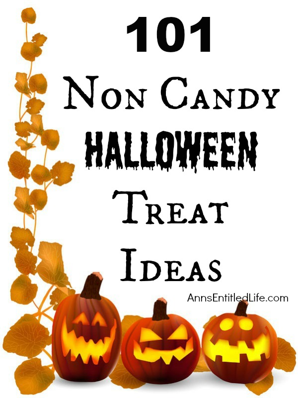 101 Non Candy Halloween Treat Ideas; Need alternatives to candy this Halloween for school or house parties or to hand out to trick or treaters? This list of 101 Non Candy Halloween Treat Ideas has something for everyone.