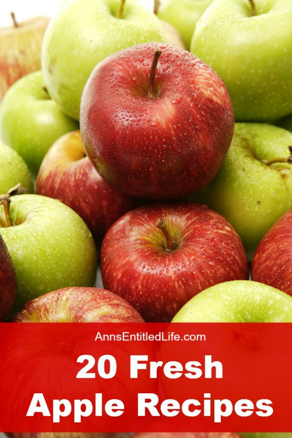 20 Fresh Apple Recipes; Celebrate fall's apple bounty with these mouthwatering sweet and savory apple dishes. To celebrate the apple harvest, here are 20 Fresh Apple Recipes; from jelly to pies to pizza and cakes, these delicious apple recipes are a welcome addition to any meal.