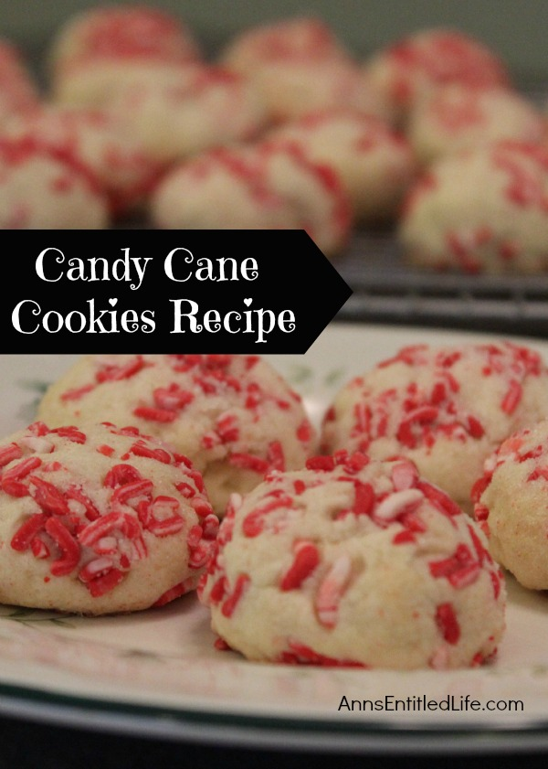 Candy Cane Cookies Recipe; these Candy Cane Cookies will make your entire house smell like Christmas! They are cool and refreshing while having a distinct holiday flavor.  Easy to make, this Candy Cane Cookies Recipe is a definite crowd pleaser!
