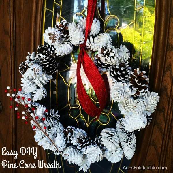 Easy DIY Pine Cone Wreath. Create a beautiful wreath with painted pine cones. Fabulous as fall, winter or spring decor, this Easy DIY Pine Cone Wreath is highly customizable. Step by step instructions make the entire process simple. You will be thrilled with the results of this inexpensive craft project!