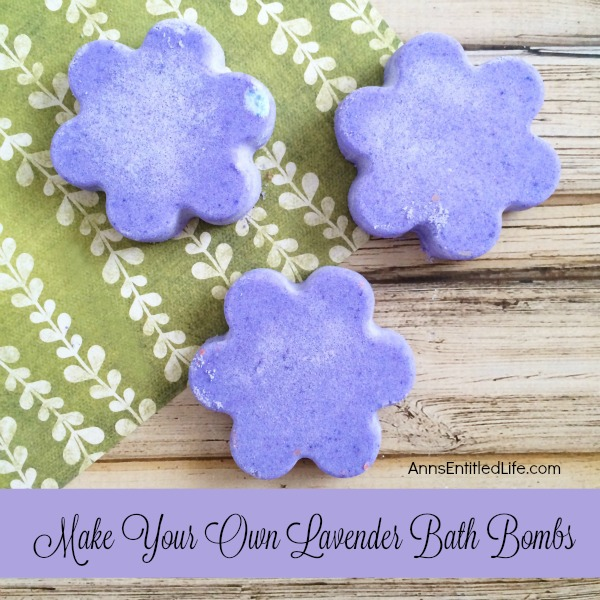 Make Your Own Lavender Bath Bombs. Make bath and shower time fabulous and sweet smelling with these easy to make, pretty little DIY Lavender Bath Bombs. Use them to pamper yourself or give these homemade bath fizzies as gifts for teachers, Mother's Day, Christmas stocking stuffers and more!