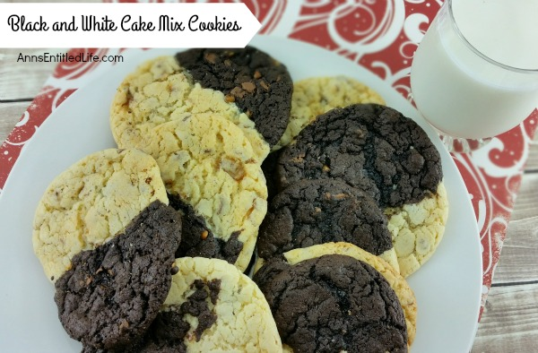 The classic Black and White Cookie made easy! Use a cake mix to make these delicious cookies that taste like the finest melding of a sugar cookie and a brownie. Fast and easy to make, these cookies are real crowd-pleasers.