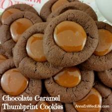 Chocolate Caramel Thumbprint Cookies Recipe