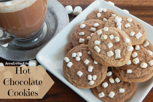 Hot Chocolate Cookies Recipe. The great taste of warm, comforting hot chocolate in a cookie! These easy to make, rich and delicious hot chocolate cookies will quickly become a family favorite. Bake up a batch tonight!