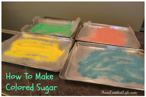 How To Make Colored Sugar. An inexpensive, and easy to make, cookie decoration is colored sugar. This is an easy tutorial on how to make colored sugar!