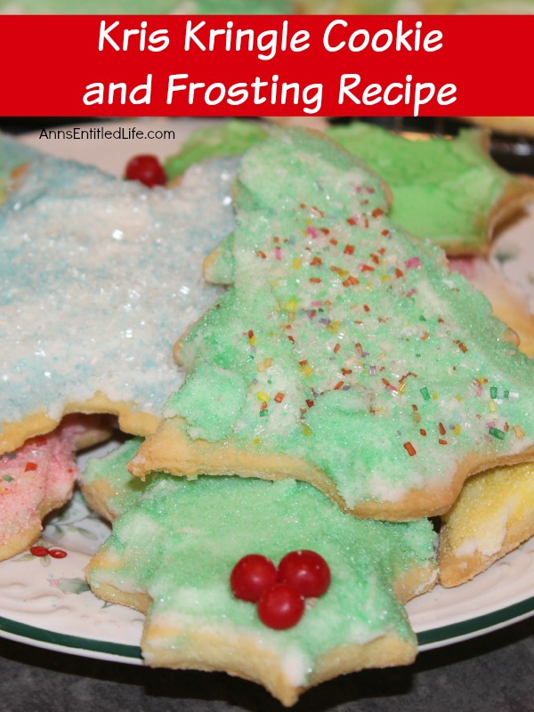 Kris Kringle Cookie and Frosting Recipe. Traditional Christmas cut-out cookie and frosting recipe, just like Grandma used to make!