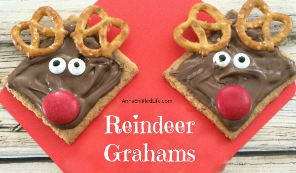 Reindeer Grahams Cookie Recipe. A super simple cookie recipe you can make with your children or grandchildren. These Reindeer Grahams are an adorable, tasty and just plain fun holiday treat!