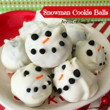 Snowman Cookie Balls Recipe