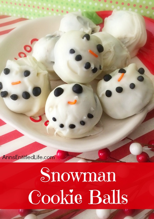 Snowman Cookie Balls Recipe.These adorable snowman cookie balls are a fun, easy to make cookie that your kids will love!