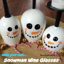 DIY Wine Glass Snowman