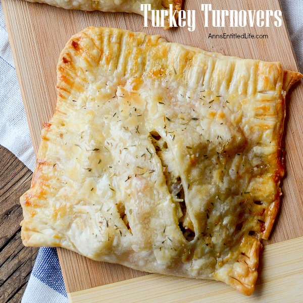 Turkey Turnover Recipe. Leftover turkey never tasted so good! Make great use of leftover turkey (or chicken) with this fast and easy to make Turkey Turnover recipe.