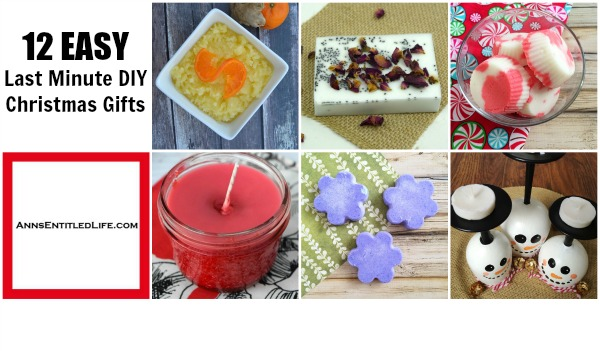 12 EASY Last Minute DIY Christmas Gifts. Looking for a last minute Christmas present? Why not make it yourself? These DIY beauty products and crafts are all simple to make, and something you would really be pleased to gift someone! If you make a few extra to keep for yourself.... well, who will know?