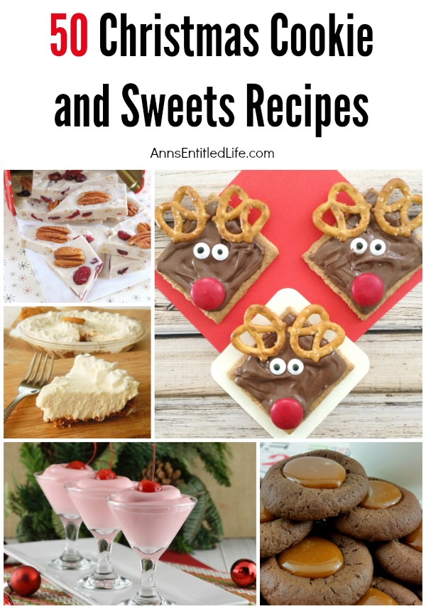50 Christmas Cookie and Sweet Recipes. Here is a list of more than 50 cookie and sweet recipes perfect for a holiday party, Christmas dessert, or even a cookie exchange. There is a delicious dessert recipe just waiting to be served at your holiday function, so be sure to check out this long list of holiday treats.