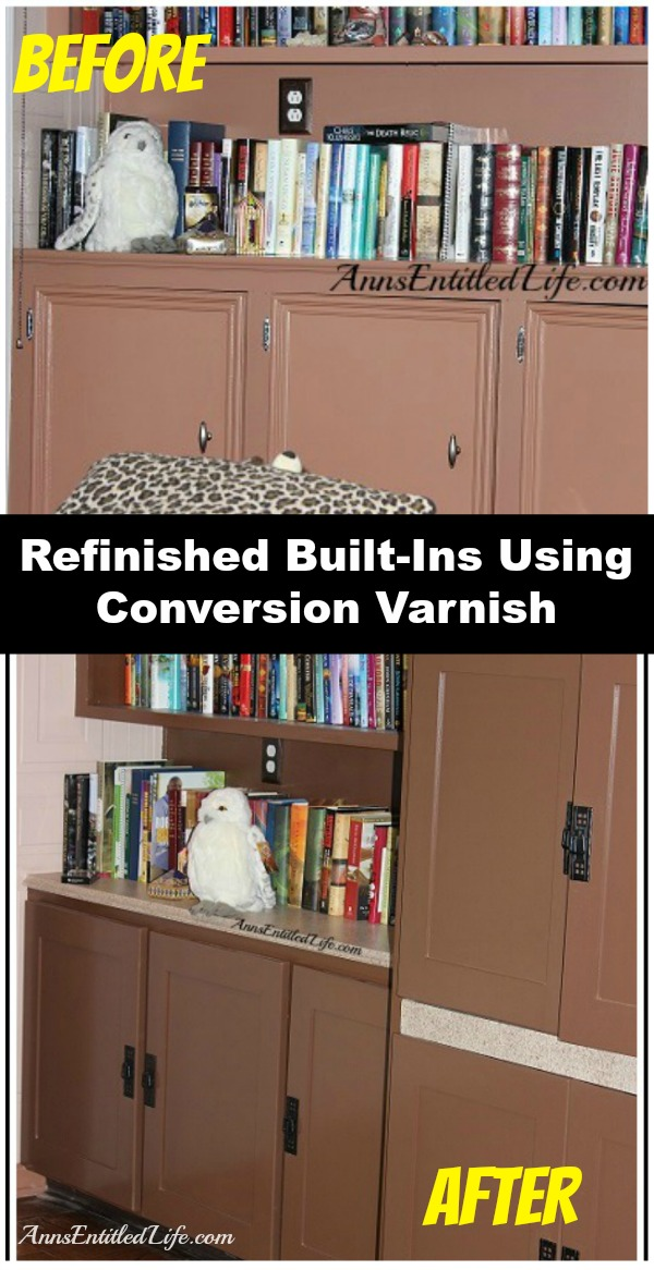 Refinished Built-Ins. Refinished Built-Ins - our built-in bookcase and shelving refinishing project
