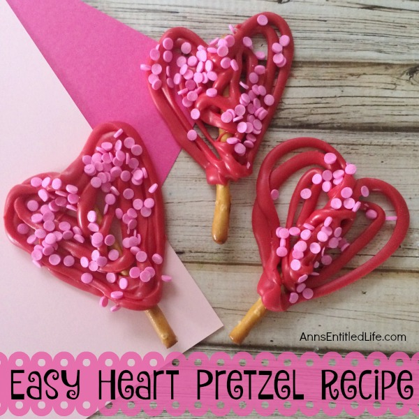 Easy Heart Pretzel Recipe. These 3 ingredient, adorable Heart Pretzels are easy to make! Wrap them up for school treats, or serve to friends and family as a special snack! Everyone will love these Easy Heart Pretzels.