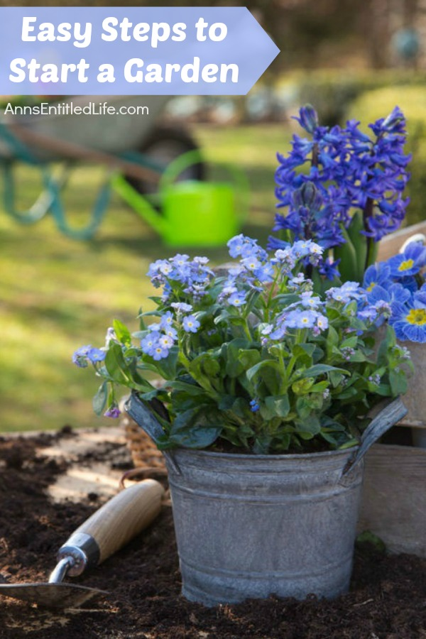 Easy Steps to Start a Garden. It is that time of year again - time to plant a garden. Even if you have a black thumb, these easy steps to start a garden will help so much that by the end of this gardening season you will have a little green on that thumb of yours.