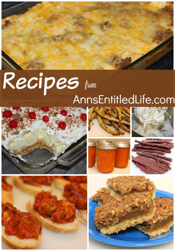 various completed recipes in a collage