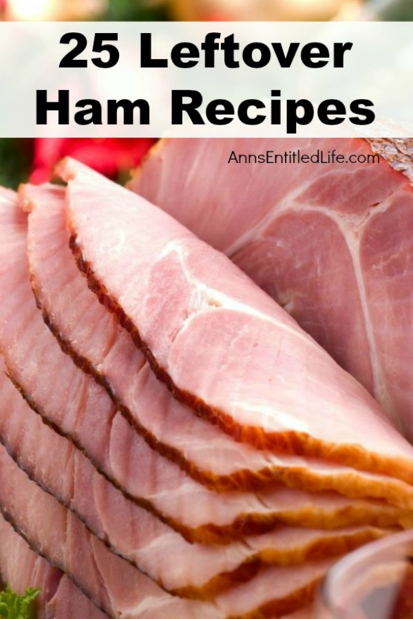 25 Leftover Ham Recipes. 25 new and delicious ways to use up your leftover Easter or Christmas ham with these fabulous ham casseroles, soups, sandwiches and breakfast recipe ideas. If you have leftover ham, you will want to keep this list handy. These ham recipes are some totally tasty recipes the entire family will enjoy!