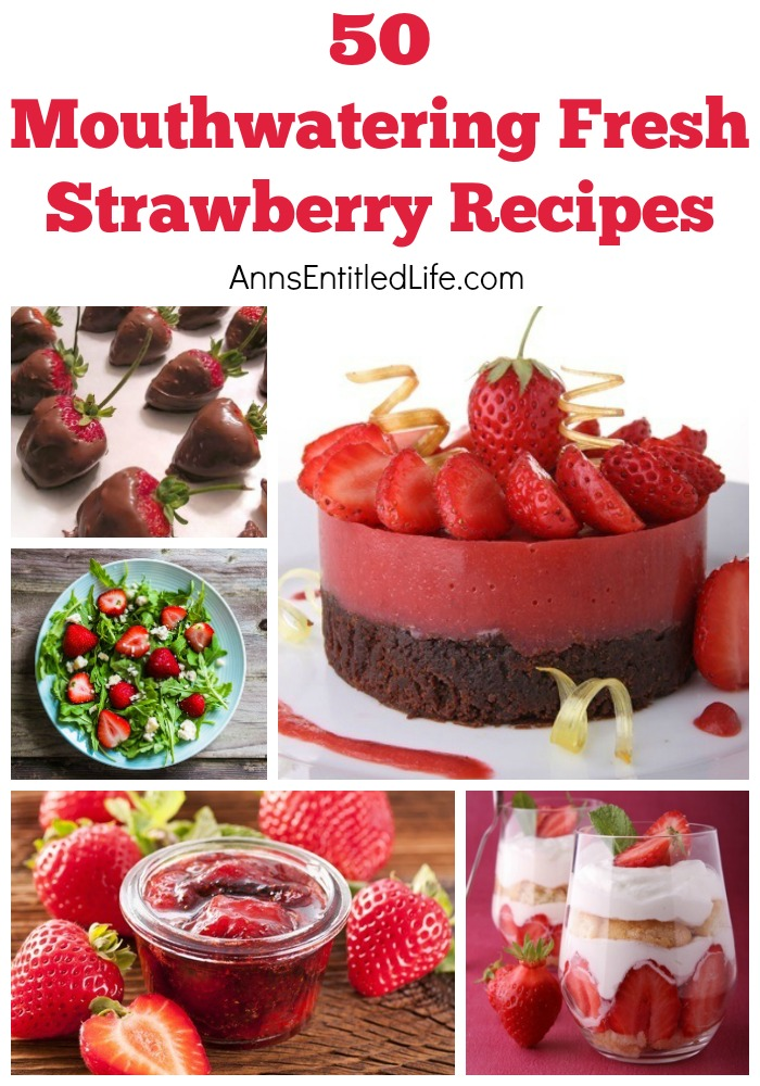 50 Mouthwatering Fresh Strawberry Recipes. Salsa, salads, cheesecakes or pies; enjoy fresh and juicy strawberries in new, bold and different ways with these 50 Mouthwatering Fresh Strawberry Recipes! Tarts, Bars, Casseroles and more!