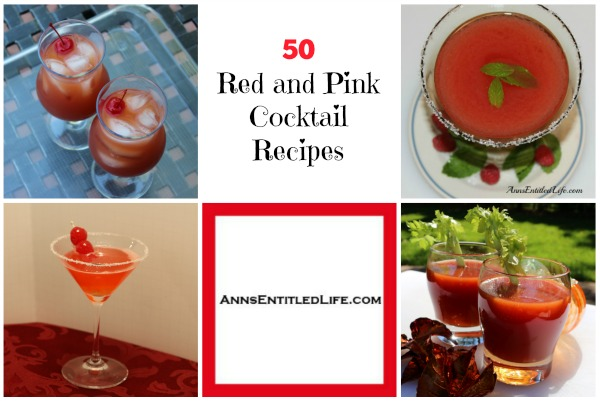 50 Red and Pink Cocktail Recipes. Try one of these delicious 50 Red and Pink Cocktail Recipes! A perfect compliment to party decor for your favorite holiday or just a weekend relaxer!