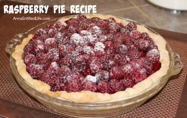 Raspberry Pie Recipe. This raspberry pie recipe takes full advantage of the sweet-tart taste of in-season, fresh raspberries! It is a beautiful presentation for a family, friend or event dessert.