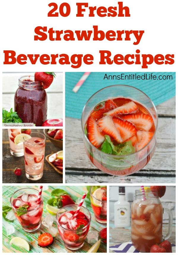 20 Fresh Strawberry Beverages. Fresh, juicy, delicious strawberries! Nothing tastes sweeter. Strawberries can be made into some wonderful beverages. From smoothies to sangrias, to milkshakes and teas, try one of these 20 Fresh Strawberry Beverages today!