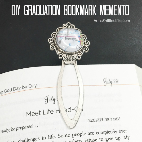 DIY Graduation Bookmark Memento. Oh the places you will go... Whether the nostalgia of a hometown, a high school or college campus location or a fond childhood memory spot, this easy DIY bookmark memento will make you smile as you reminisce. Along with the past, consider making a bookmark talisman of future venues such as a new home location, an upcoming vacation destination or anywhere you have plans for exciting adventures to come! This easy DIY Graduation Bookmark Memento is an idea that translates to more than just graduation, but to any monumental life experience never to be forgotten.