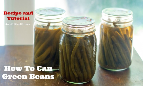 Canned Green Beans Recipe. A super easy home canning recipe with step by step tutorial photographs on how to can green beans. In under an hour you can preserve your harvest of green beans to enjoy year-round.