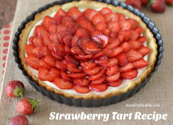 Strawberry Tart Recipe. A visually stunning presentation, this strawberry tart is actually simple to make. Make this strawberry tart for dessert, to take to a party, serve with tea or for anytime really. Your friends and family will be impressed. Only you will know how truly easy this strawberry tart recipe is to prepare!