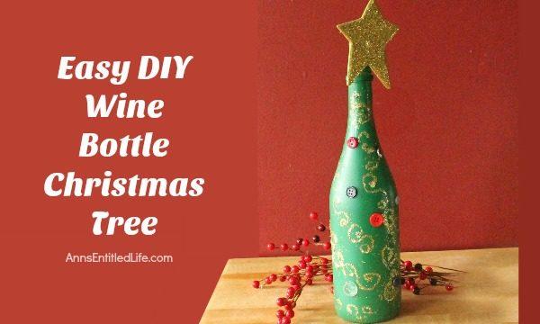 Wine Bottle Christmas Tree Diy.Easy Diy Wine Bottle Christmas Tree