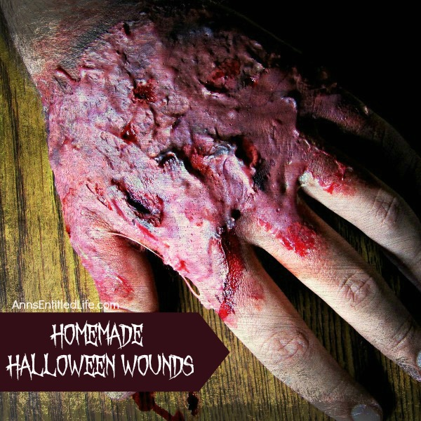 Homemade Halloween Wounds. Make your own ghoulish wounds for Halloween this year! Gross-up your Halloween costume easily and inexpensively with disgusting and disturbing fake wounds you can make at home. Zombie and living dead costumes, killer costumes, monster costumes and more will be enhanced with terrifyingly realistic fake wounds! Learn how to make theater worthy wounds with this easy step by step tutorial.