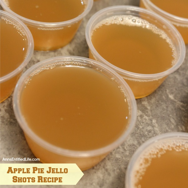 Apple Pie Jello Shots Recipe. This Apple Pie Jello Shot recipe is a taste of fall in a party shot! Simple to make, these Apple Pie Jello Shots are great for parties, tailgating, and more!