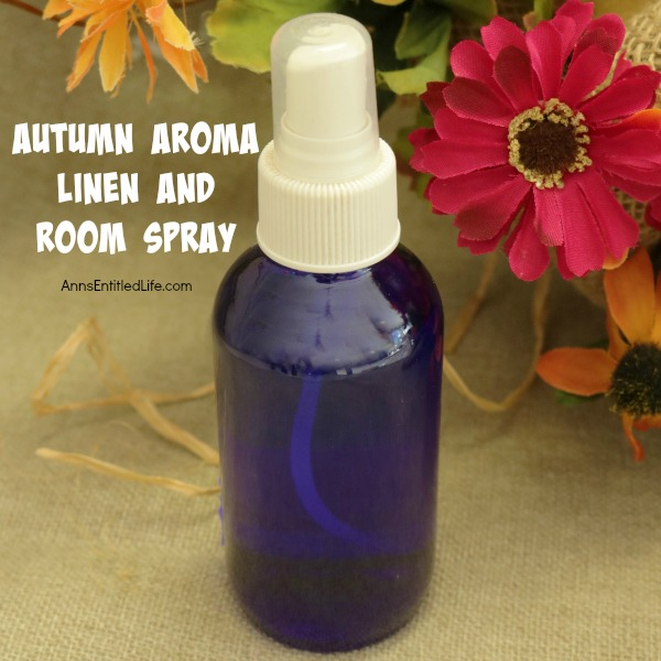 DIY Autumn Aroma Linen and Room Spray. This warm, spicy scent is perfect as a linen spray and a room spray. Make your own wonderful scented spray with these easy step by step instructions. Simple to make, this DIY Autumn Aroma Linen and Room Spray is an economical alternative to store bought sprays.