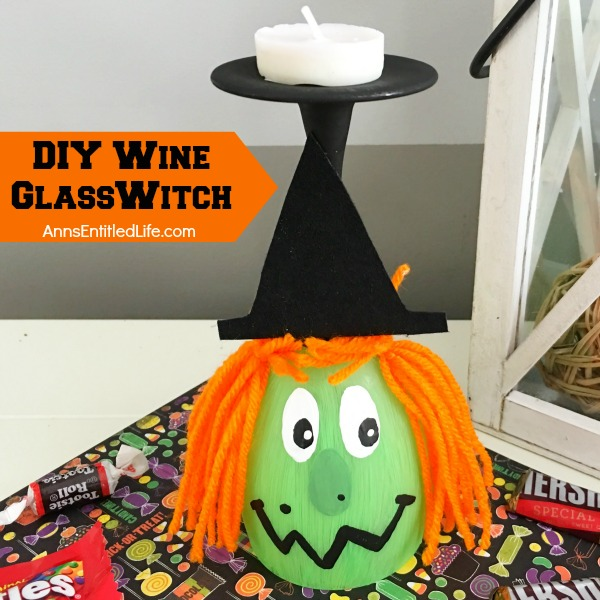 DIY Wine Glass Witch. Make your own adorable Wine Glass Witch. This easy step by step tutorial will show you how to easily make a wine glass witch which is perfect for a centerpiece, mantel decor or table decorations this Halloween! If you are looking for a cute Halloween craft project, this is it!