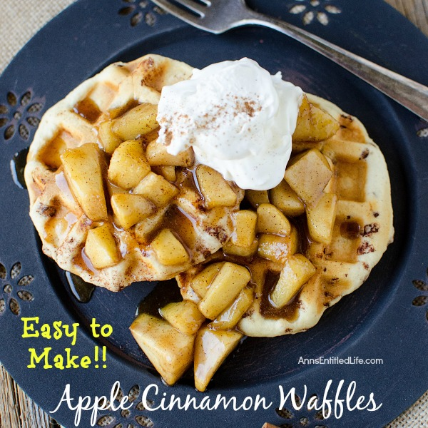Apple Cinnamon Waffles Recipe. These easy to make Apple Cinnamon Waffles are a simply wonderful. Your whole family will love these delicious and fragrant apple cinnamon waffles for breakfast, or served as a dessert!