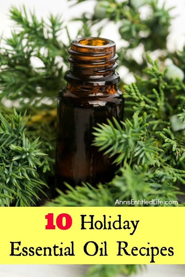 10 Holiday Essential Oil Recipes. DIY holiday home and personal use essential oil scent recipes, as well as food essential oil recipes and decor essential oil recipes. There is something for everyone on this great list of 10 Holiday Essential Oil Recipes.