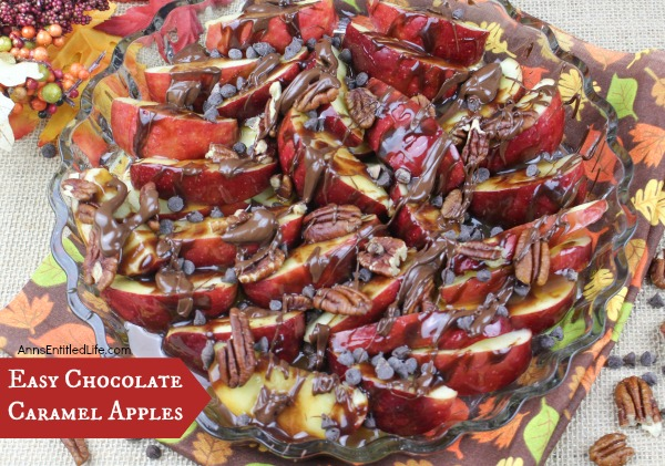 Easy Chocolate Caramel Apples Recipe.If you like apples, chocolate and caramel, you will love this quick fix Easy Chocolate Caramel Apples Recipe for dessert, a snack, or served as a party dish. This is one fast and simple to make apple recipe.