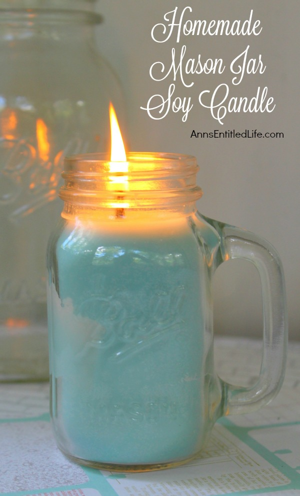 Homemade Mason Jar Soy Candle