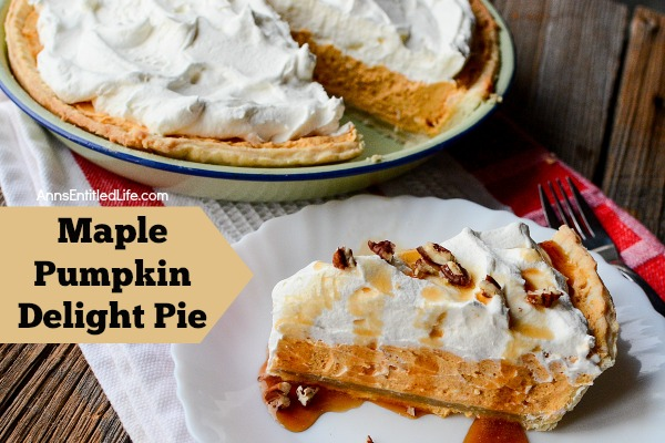Maple Pumpkin Delight Pie Recipe. Easy, delicious, maple and pumpkin goodness! This Maple Pumpkin Delight Pie Recipe is simple to make and tastes fantastic. It can be prepared ahead of mealtime. The wonderful, smooth and rich taste of pumpkin is perfectly blended with the sweet taste of real maple syrup. Yum!