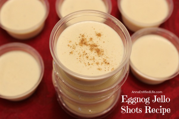 Eggnog Jello Shots Recipe. If you like eggnog you will love these fabulous Eggnog Jello Shots. These jello shots taste exactly like your favorite eggnog recipe! These fun Eggnog Jello shots are perfect for holiday parties and get-togethers.