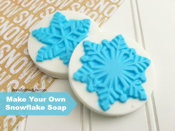 Snowflake Soap. Make your own Snowflake Soap! Perfect for the holidays or winter season, these decorative snowflake soaps are highly customizable. Making homemade soap easier than you think! You control the ingredients, so you know exactly what is in the soap you are making and using.