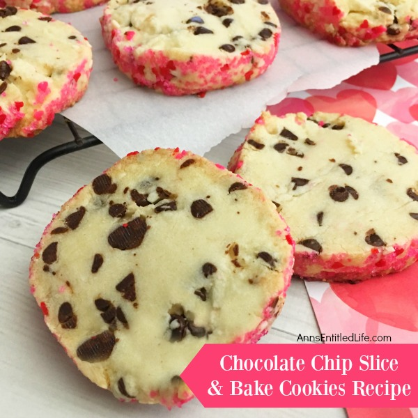 Chocolate Chip Slice and Bake Cookies Recipe. Make your own chocolate chip slice and bake cookies with this easy to put together slice and bake cookies recipe! This tasty chocolate chip slice and bake cookies recipe is simple to make and can be customized for any holiday or occasion. This is an easy recipe that looks beautiful and tastes fabulous!
