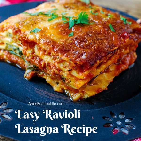 Easy Ravioli Lasagna Recipe. A fast prep, a quick bake, and dinner is ready in under an hour! A salad and fresh bread are all that is needed to turn this tasty easy Ravioli Lasagna recipe into a hearty supper your whole family will enjoy.