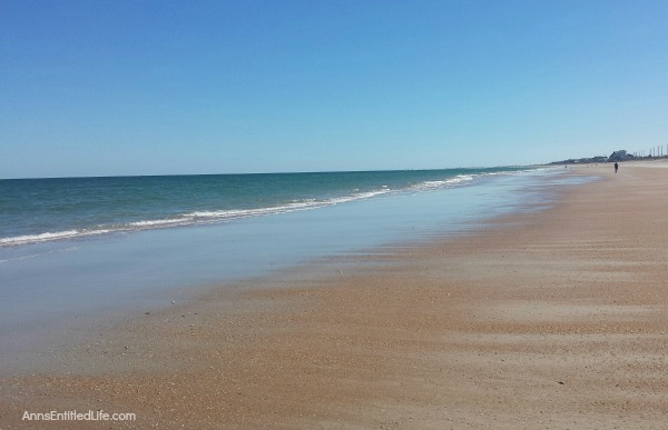 St Augustine, Florida. Life in Vilano beach, early 2017. Photos of A1A, Vilano beach; white sand, strong waves, and sunshine. Taken 3 and 4 months after Hurricane Matthew.