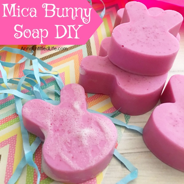 Mica Bunny Soap DIY. Making your own soap is fast, fun and easy. Learn how to make soap using mica powder, this easy step by step tutorial will show you how!