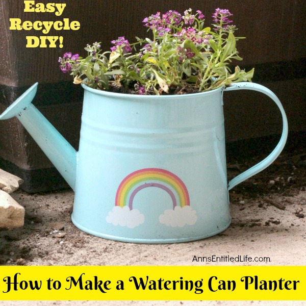 How to Make a Watering Can Planter. A watering can planter is such an adorable way to keep pretty flowers and fresh herbs nearby at all times. Make a collection of different watering cans for some added whimsy!