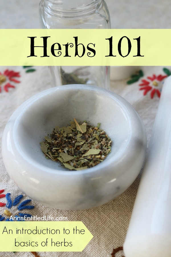 Herbs 101 – An introduction to the basics on herbs. Herbs are something all of us can benefit from in one way or another; from using them for home remedies, baking, or crafts, they have so many valuable uses we can take advantage of. If you are new to using herbs though, it can seem overwhelming to know where to start and what exactly you are even dealing with. Here are a few tips on getting started with herbs!