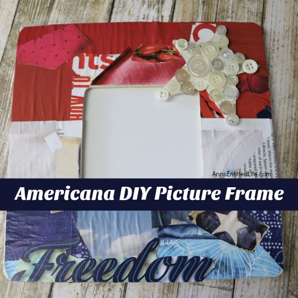 Americana DIY Picture Frame. Looking for a cute Americana themed craft to display for Independence Day? This do-it-yourself picture frame is inexpensive and a very easy craft to make. It takes about an hour of your time from beginning to end to produce this
